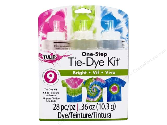 Tulip One Step 3-Color Tie Dye Kits Bright