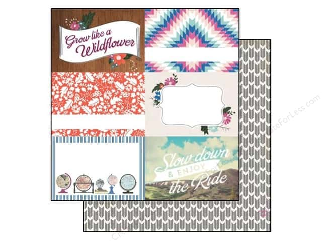 Carta Bella 12 x 12 in. Paper Wild Flower 4 x 6 in. Journaling Cards (25 sheets)