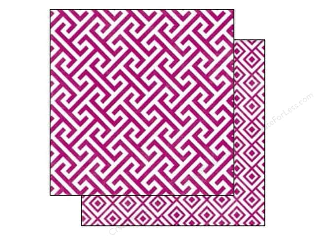 Echo Park 12 x 12 in. Paper Style Essentials 5th Avenue Mulberry Geometric (25 sheets)