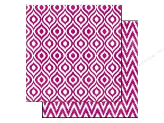 Echo Park 12 x 12 in. Paper Style Essentials 5th Avenue Mulberry Ikat (25 sheets)