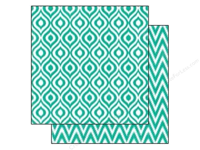 Echo Park 12 x 12 in. Paper Style Essentials 34th Street Calypso Ikat (25 sheets)