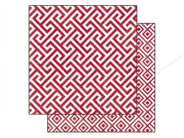 Echo Park 12 x 12 in. Paper Style Essentials 34th Street Lipstick Geometric (25 sheets)
