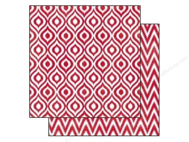 Echo Park 12 x 12 in. Paper Style Essentials 34th Street Lipstick Ikat (25 sheets)