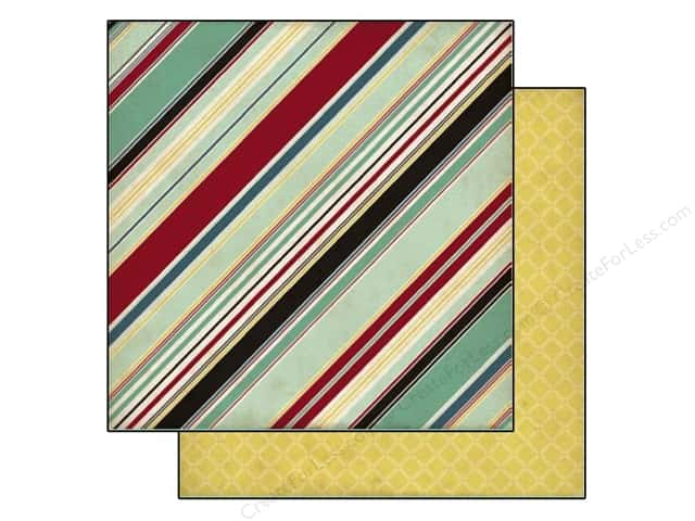 Echo Park 12 x 12 in. Paper Times & Seasons 2 Manly Stripe (25 sheets)