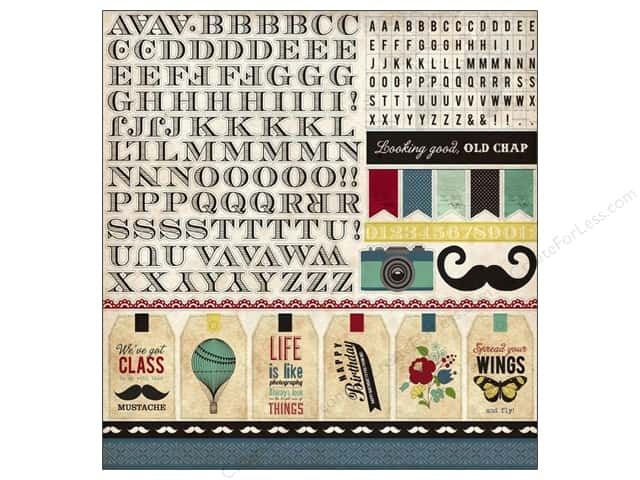Echo Park Sticker 12 x 12 in. Times & Seasons 2 Collection Alphabet (15 sets)