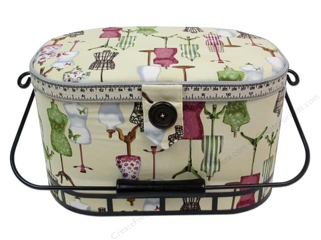 St Jane Sewing Baskets Large Oval With Metal Handle
