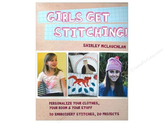 FunStitch Studio Girls Get Stitching Book by Shirley McLauchlan