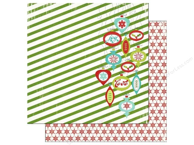 Imaginisce Paper 12x12 Colors Of Christmas Vintage Ornaments (25 sheets)
