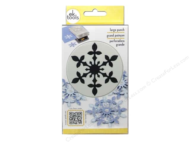 EK Success Large Punch Vintage Snowflake 2 1/2 in.