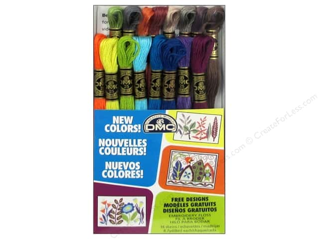 DMC Embroidery Floss Pack 16 pc. New Colors
