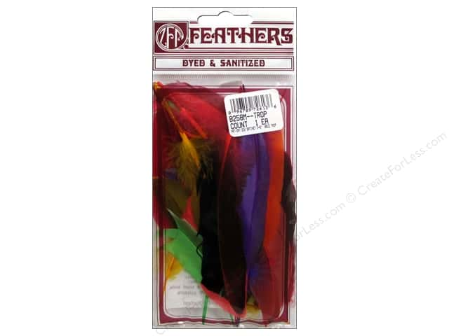 Zucker Feather Duck Satinette Feathers .05 oz. Tropical Mix