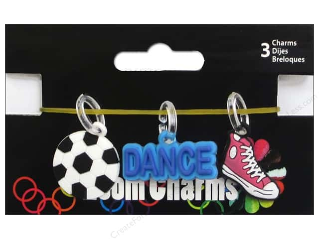 Midwest Design Loom Bands 3 pc. Charm Sport Assorted