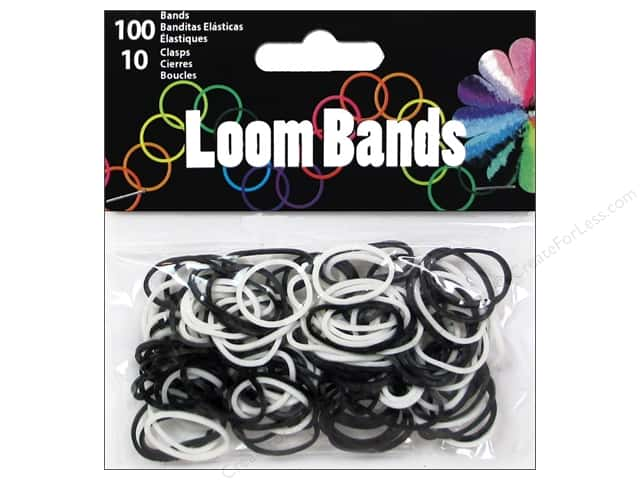 Midwest Design Loom Bands 110 pc. Black/White Assorted