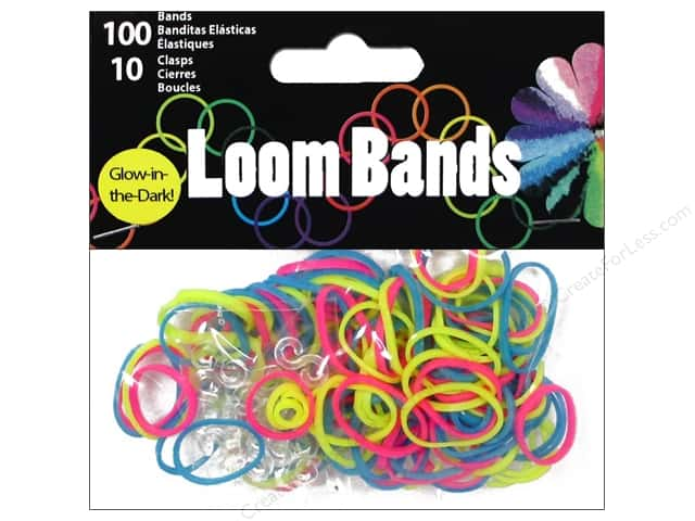 Midwest Design Loom Bands 110 pc. Glow In Dark Multicolor