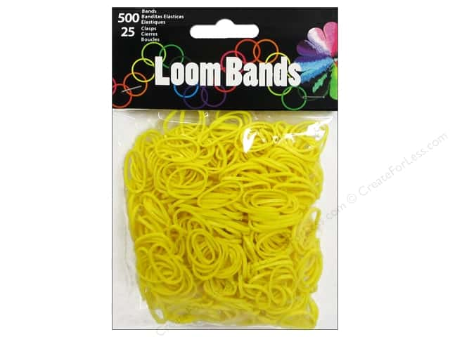 Midwest Design Loom Bands 525 pc. Yellow