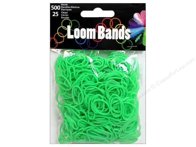 Midwest Design Loom Band Green 525 pc.