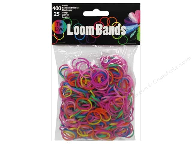 Midwest Design Loom Bands 425 pc. Tie-Dye Assorted Color