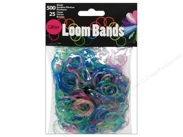 Midwest Design Loom Bands 525 pc. Glitter Assorted