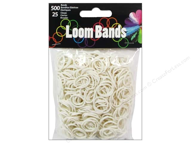 Midwest Design Loom Bands 525 pc. White