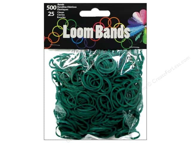 Midwest Design Loom Bands 525 pc. Dark Green