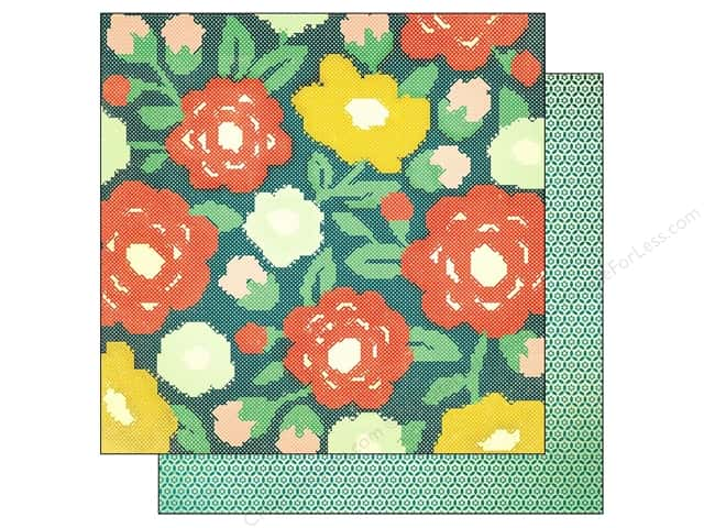 Crate Paper 12 x 12 in. Paper Close Knit Cross Stitch (25 sheets)