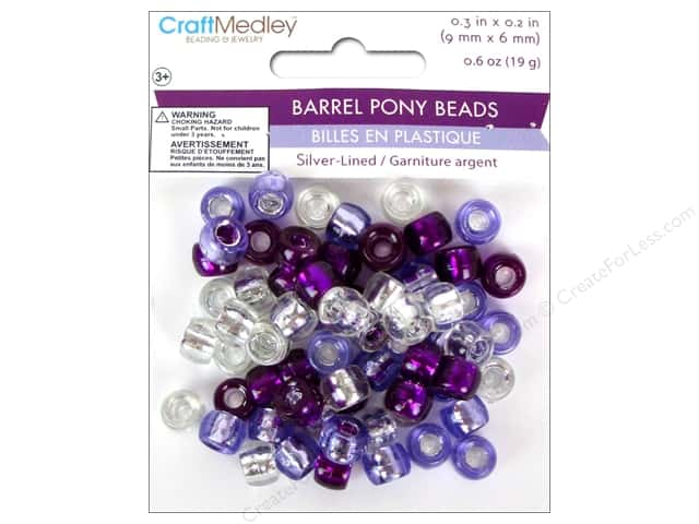 Multicraft Bead Pony 9x6mm 19gm Barrel Viola