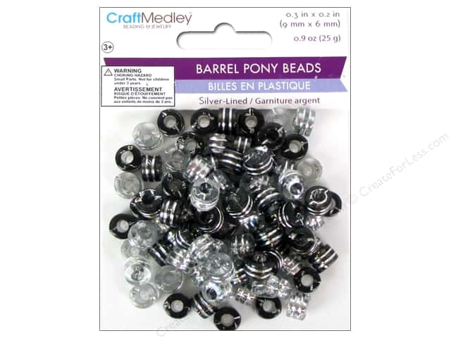 Multicraft Bead Pony 9x6mm 25gm Barrel Classy