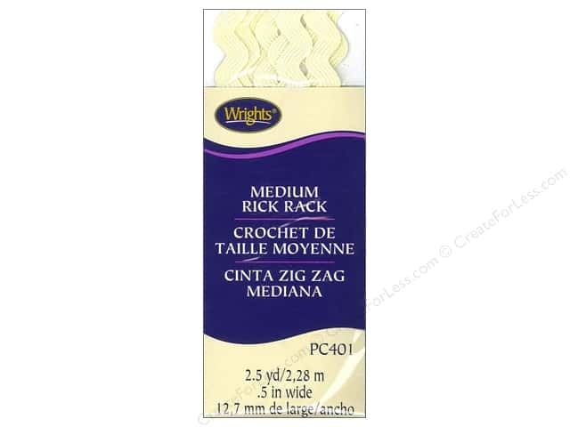 Wrights Rick Rack Medium 2 1/2 yd. Baby Maize