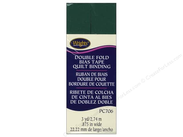 Wrights Double Fold Quilt Binding - Jungle Green 3 yd.