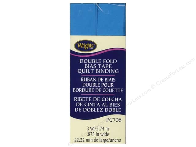 Wrights Double Fold Quilt Binding 3 yd. Porcelain Blue