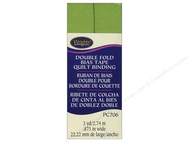 Wrights Double Fold Quilt Binding - Leaf Green 3 yd.