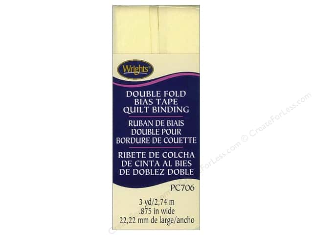 Wrights Double Fold Quilt Binding 3 yd. Baby Maize