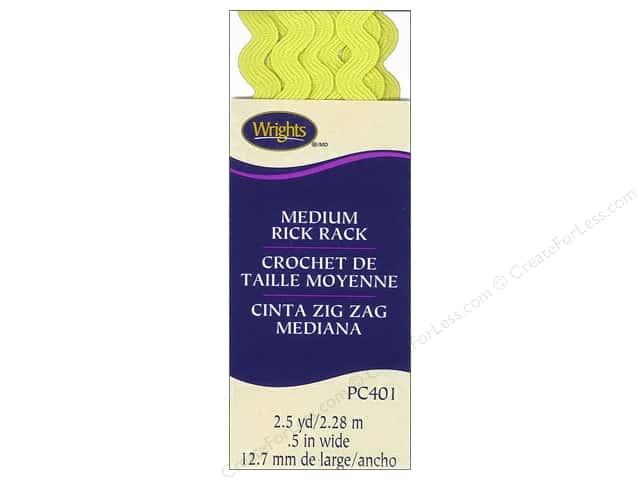 Wrights Rick Rack Medium 2 1/2 yd. Citron