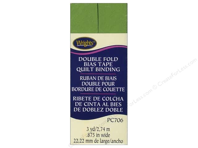 Wrights Double Fold Quilt Binding - Kiwi Green 3 yd.