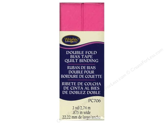 Wrights Double Fold Quilt Binding - Berry Sorbet 3 yd.