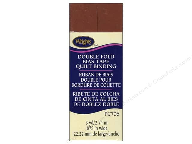 Wrights Double Fold Quilt Binding 3 yd. Bark