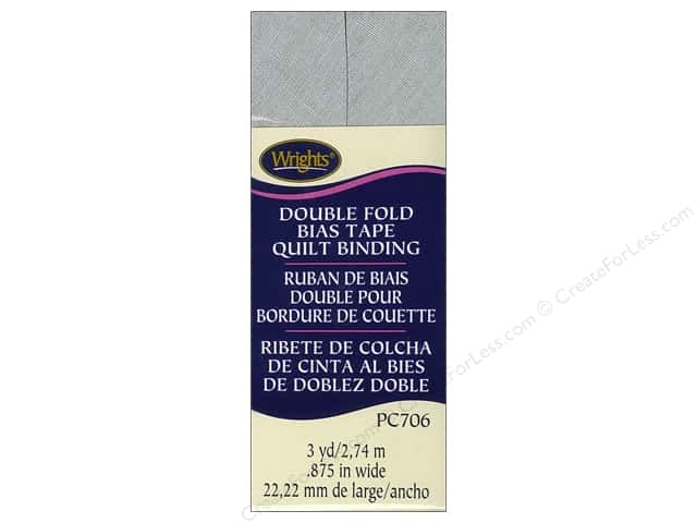 Wrights Double Fold Quilt Binding 3 yd. Shadow