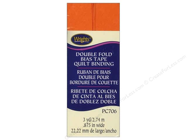 Wrights Double Fold Quilt Binding - Orange Peel 3 yd.