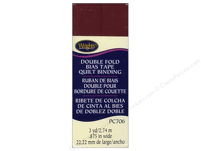 Wrights Double Fold Quilt Binding - Ox Blood 3 yd.