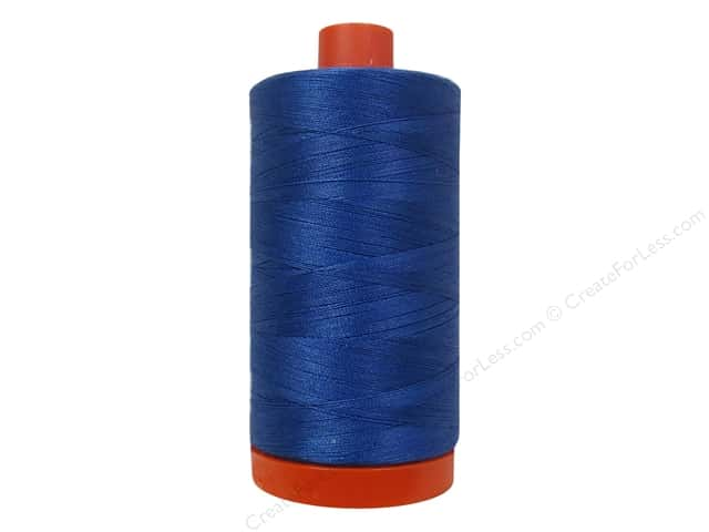 Aurifil Mako Cotton Quilting Thread 50 wt. #2730 Delft Blue 1420 yd.