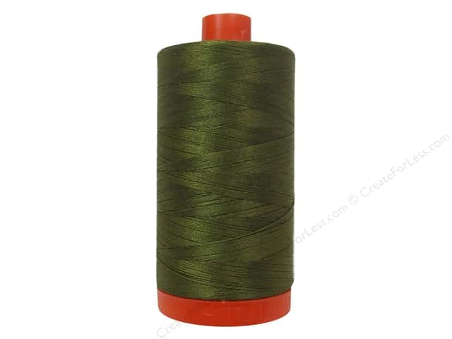 Aurifil Mako Cotton Quilting Thread 50 wt. #4173 Dark Olive 1420 yd.