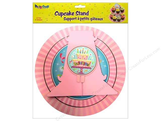 Multicraft Party Cupcake Stand 2 Tier Birthday Girl