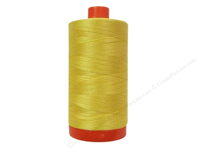 Aurifil Mako Cotton Quilting Thread 50 wt. #1135 Pale Yellow 1420 yd.