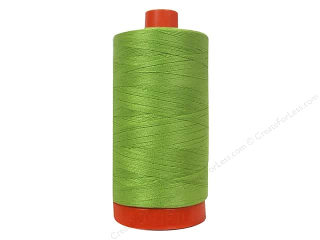 Aurifil Mako Cotton Quilting Thread 50 wt. #5017 Shining Green 1420 yd.