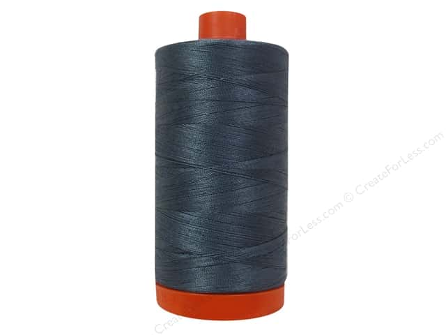 Aurifil Mako Cotton Quilting Thread 50 wt. #1158 Medium Grey 1420 yd.
