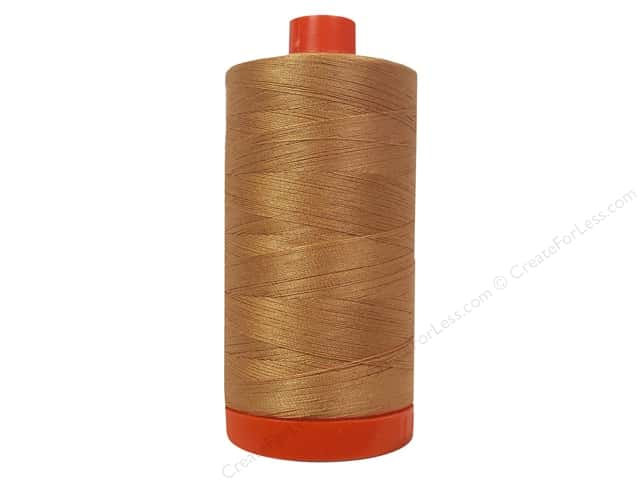 Aurifil Mako Cotton Quilting Thread 50 wt. #2210 Caramel 1420 yd.