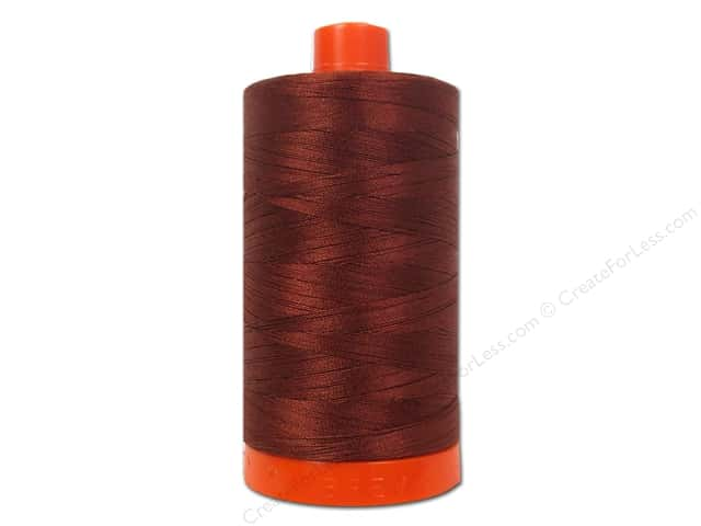 Aurifil Mako Cotton Quilting Thread 50 wt. #2355 Rust 1420 yd.