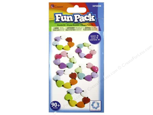 Cousin Fun Pack Kit Bead Bracelet Heart Multi