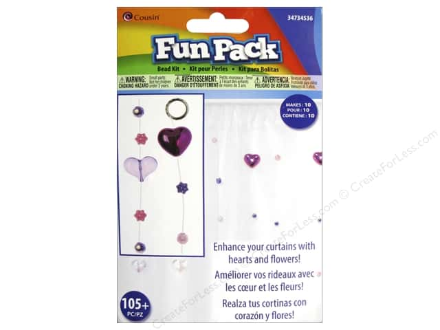 Cousin Fun Pack Kit Bead Curtain Heart