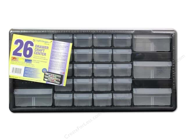 Craft Design Craft Center Organizer 26 Drawer Black